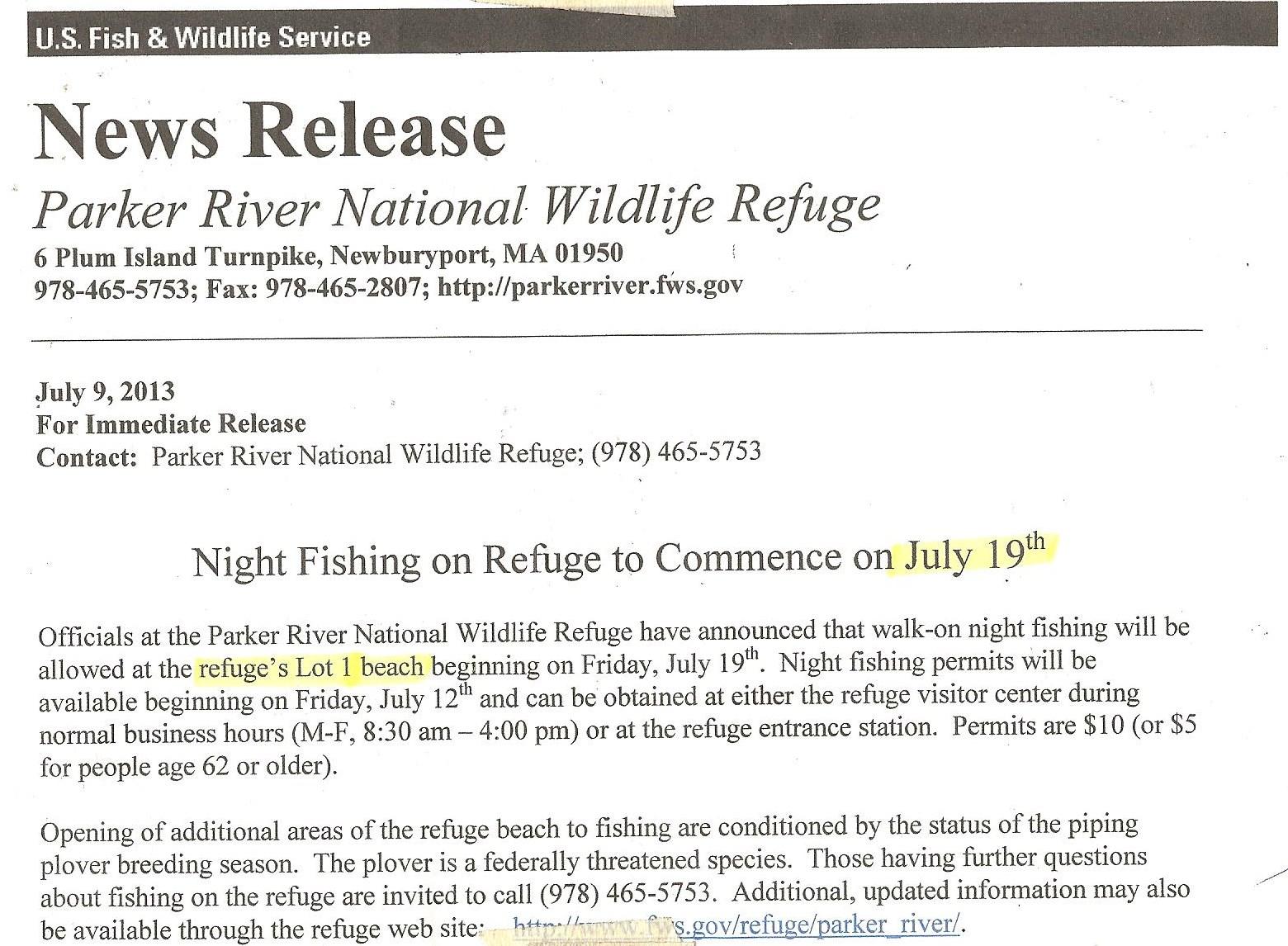 Night Fishing PRWR